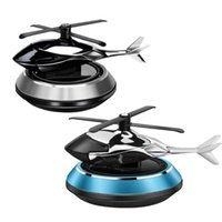 Car Air Freshener Airplane Solar Rotating Helicopter Interior Accessories Center Console Decor