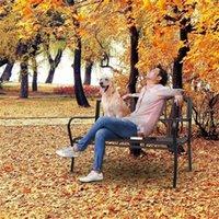 الولايات المتحدة الأوراق المالية حديقة في الهواء الطلق مقعد البدلاء الفناء الشرفة كرسي خمر الفناء الخلفي مقعد الأثاث الحديد الإطار الأسود سنوات من المتانة