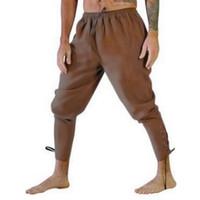 Pantaloni da uomo Bel Vintage Uomini d'epoca Halloween Medieval Pirata Rinascimento Cavaliere Cosplay Cosplay Pantalone sciolto Gamba Bandage Pantaloni