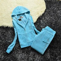 Velvet Zipper Sweatshirt And Pants Fat Sister Sportswear Women's Brand Spring Fall Fabric Tracksuits Velour Suit Hoodies