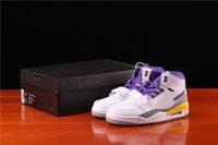 Genuine 312 Lakers Tre-in-One Stato di pallacanestro Stato di alto Stato, Colore Bianco e viola Colore Uomo Donna Sneakers, Formato totale 36-45