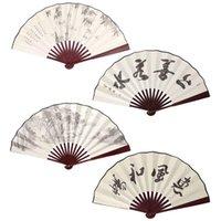 Andere Woondecoratie Chinese stijl Hand gehouden vouwen zijden fan voor bruiloftsevenement en feestartikelen decoratie cadeau mannen drop-ship