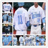 UNC North Carolina Tar Heels Baseball 88 Kyle Seager 43 Matt Harvey 45 Austin Bergner 44 Love CWS White Blue Jerseys