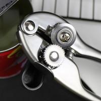 Seguridad Blanco Níquel Aleación de aleación de aleación Latas Abrebatas Corte lateral Manual de mano Can JARS TIN Bottle Abrigos Herramientas de cocina profesional HHF7365