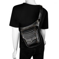 حقيبة خصر السيدات متعددة الوظائف الخاصية الخاص بكseason التسوس 2021 بو الجلود الإناث موتو السائق steampunk الكتف رسول الحقائب 1