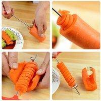 Креативный спиральный крутовой нож для огурца морковь фрукты овощное нож ручной ролик нержавеющая сталь резьба резьба нож кухня RRD6877