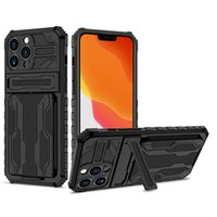 Kickstand Case with Card Slot Shockproof Phone Cases Cover for iPhone 13 12 11 Pro XS Max XR 7 8 Plus
