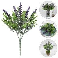 Decorative Flowers & Wreaths 2pcs Creative Lavender Decoration Artificial Eucalyptus Bouquet Ornament
