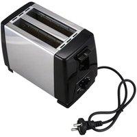 Household Stainless Steel Toaster Double Slot Automatic Mini Breakfast Toast 2 Slice Heating Toaster-EU Plug Bread Makers