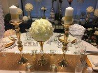 حزب الديكور الزفاف الذهب الحديد كريستال عمود زهرة حامل محور