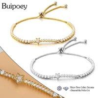 Charm Bracelets Buipoey Fashion Golden Cubic Zirconia Meteor For Women Men Adjustable Boho Style Fine CZ Bracelet & Bangle Jewelry