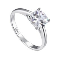 Wedding Rings TL-234 Four Claw Women Ring Solid Sterling Silver Female Engagement White Gold Cover Brilliant As Natural