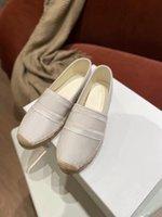 Loisirs Pêcheur Sandales Chaussure-Girl Printemps / Tête d'été Mocassins de paille brodés Polyvalent à plat une taille de pied 35-42
