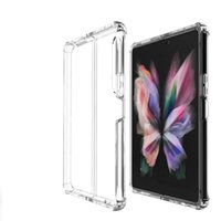 Clear Cases For Samsung Z Fold 3 5G Bumper Case Hard arylic Protector Phone Cover Galaxy Z Flip 3 S21 Ultra Shockproof Transparent Covers