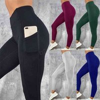 Lulu Women's Pants With Pocket Workout Yoga Fitness Skinny Tights Gym Sport Stretch Fit Solid Jogging Slim Legging LJJA2867