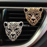 Air de la voiture Ferrinateur Universal Leopard Head Modélisation de parfum décoratif Conditionneur d'épilation d'odeur fraîche Aroma