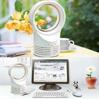 Fans & Coolings Mini Portable Desktop Bladeless Fan Cute No Fan-Leaf Cooler Cooling Office Study Desk Home USB Port Boxed Gift