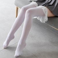 2021 New Sexy Women's Tights Classic Lace Velvet Thigh High Ladies Girl's Lolita Over Knee Socks Vintage Lace Stockings Thighhighs