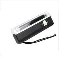 2 In 1 UV Black Light Ultraviolet disinfection Lamp Handheld Torch Portable Fake Money ID Detector Lamp Lights Tools GWd8871