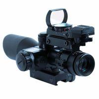 2.5-10x40 레드 레이저 107 홀로그램 도트 시력을 가진 전술 소총 범위