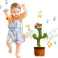 Dancing Talking Talking Canting Cactus Peluche Peluche Peluche Elettronica con canzone in vaso giocattolo di educazione precoce per bambini giocattolo divertente per fidanzato HWD10096