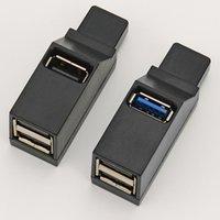 USB 3.0 HUB Adapter Extender Mini Splitter Box 3 Ports for PC Laptop Macbook Mobile Phone High Speed U Disk Reader