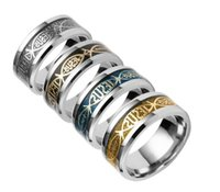 Titanium Steel Christian ring Finger ring Nail rings Silver Gold Band Rings for Women Men Believe inspired jewelry Drop Ship ps1688