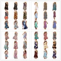 여성 스쿠프 넥을위한 드레스 민소매 드레스 시폰 유럽과 미국 여성의 착용 여름 플러스 사이즈 S / M / L / XL / XXL / XXXL 많은 스타일 40 패턴