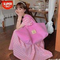 [재고 있음] 2021 여성용 가방 슈퍼 핫 패션 마카롱 대용량 조류 어깨 편리한 빵 모든 일치하는 토트 여성 # CG17