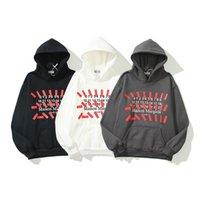 Moda de rua na moda margiela mm6 margella fita patch digital mãe tendência solta camisola moletom