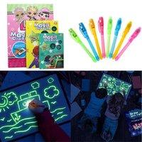 A3 A4 A5 LED DIY luminosa desenho graffiti doodle desenho tablet tablet desenhar com luz fluorescente caneta educacional Toy Q0313