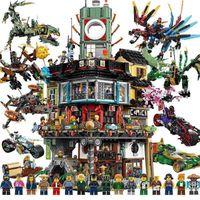 TOYCOMPATIBLE CON LEGO PHANTOM NINJA DRAGÓN DRAGÓN Rompecabezas infantil Bloques de construcción Bloques de construcción de 8 personas Brain Toy Boys Aganse 6-14Fidget