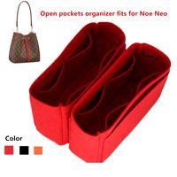 Se adapta a las bolsas de inserción NEO NOE Organizador Maquillaje de mano Bolso abierto Organizador de viaje Viaje de bolso interior Portátil Cosmetic Base Shaper para NeOoe 210322