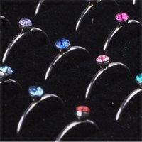 الجملة 40 قطع 1 مجموعة مجوهرات لطيفة الجسم بيرس كريستال الأنف الدائري السائبة قطع الثيران عرض مربع LR312 1134 T2