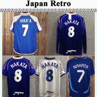98 Japão Soma Akita Okano Nakata Retro Mens Curta Manga Longa Soccer Jerseys National Team Kawaguchi Away Kazu Hattori Football Shirt