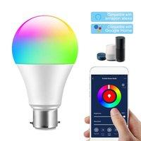 Smart Home Control WiFi Lampadina RGBW Led 85-265V E27 Volantini Variopinta Volant'App App compatibile con Alexa Voice