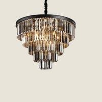 Chandeliers de cristal moderno de 16 ligeros redondos k9 cristales araña, accesorio de iluminación de techo ajustable, modernas lámpara colgante de 5 niveles para salas de estar