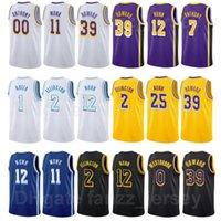 Hombre mujer joven pantalla impresión carmelo anthony jersey 7 baloncesto malik monje 11 Kendrick Nunn 12 Russell Westbrook 0 Dwight Howard 39 Trevor Ariza 1 Wayne Ellington
