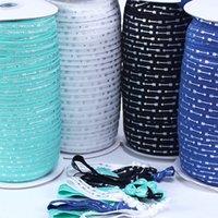 """5/8 """"Silberfolie Pfeile Foe Falten Sie den elastischen Pfeil gedrucktes Band für DIY-Haar-Krawatten-Zubehör Willkommen Benutzerdefinierte Designs."""