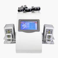 6 In 1 fat loss liposuction ultrasonic RF body sculpting lipo laser Skin Liftting shaping Device 40K cavitation vacuum slimming machine Beauty Equipment