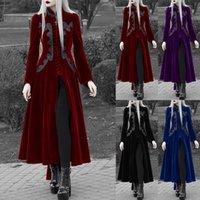 캐주얼 드레스 코스프레 파티 턱시도 펑크 성인 의상 중세 드레스 할로윈 카니발 고딕 코트 여성 중세 시대