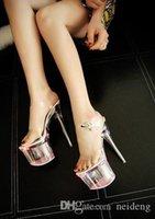 Hot Sale-The 2021 new 17cm super platform colorful light transparent SM crystal sandals.