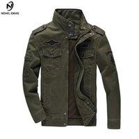 Мужские куртки романские идеи армия военные на открытом воздухе высококачественный стенд воротник куртка пилотный верхняя одежда джинсовая мужчина джакета