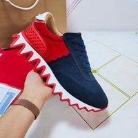 2021 Lüks Tasarımcılar Ayakkabı Kırmızı Alt Plaka-Formu Düşük Kesim Spike Flats Erkekler Kadınlar Için Deri Sneakers Rahat Ayakkabı
