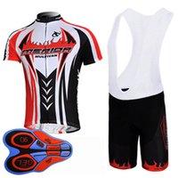 Nuovi uomini Cycling Jersey Suit 2019 Summer Merida Team Road Bib Shirt Bib Shorts Set manica corta Abiti da bicicletta traspirante Y090402