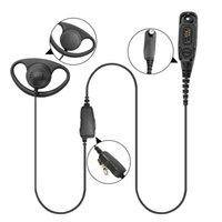 Walkie Talkie Headset 1-fio D Fone de ouvido estilo fone de ouvido para motorola xpr6350 xpr6380 xpr6550 xpr6580 rádio