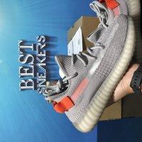 Top Quality Kanye Running Shoes Homens Mulher Malha Pérola Cauda Cauda Luz Preto 3M Estático Reflexivo Zebra Massagem Plataforma Ao Ar Livre Treinadores Esportivos Sneakers com caixa