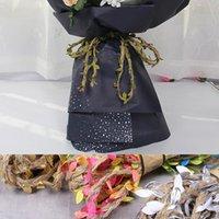 Silk Leaf-Shaped Handmake Artificial Green Leaves DIY For Wedding Box Decoration Foliage Handmade Craft Wreath Decorative Flowers & Wreaths