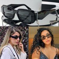 공식적인 새로운 여성 P 홈 선글라스 PR PR 17W 디자이너 안경 숙녀 무대 스타일 고품질 패션 오목 - 볼록 3 차원 라인 미러 프레임