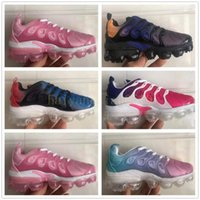 2021 Kids tn plus boys Shoes Triple pink tns Trainers Cushion black Blue Pastel University high quality sneakers 22-35